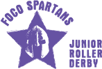 Foco Spartans Junior Roller Derby Logo (spartans helmet in a star)